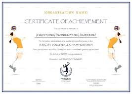 volleyball certificate template free printable volleyball award certificate templates girls template