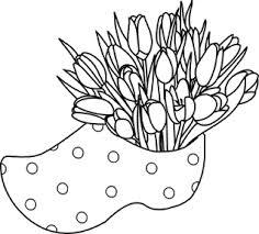 Kleurplaat Klomp Vol Tulpen Nederland Olanda Disegni Da