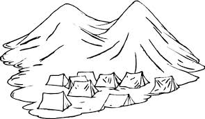 Small Picture Tents Under Active Volcano Coloring Page NetArt