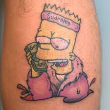 Tattoo Uploaded By Jeff Borkhuis Bart Bartsimpson Simpsons