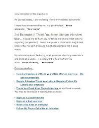 Resume Template Sample Unique Job Interview Thank You Letter After Second Resume Template Sample