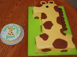 Number 1 Birthday Cake Designs Giraffe Cakes Decoration Ideas Little Birthday Cakes