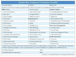 New Orientation Agenda Template Employee Checklist Templates ...
