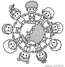 世界の子供たちのイラスト素材 Pixta