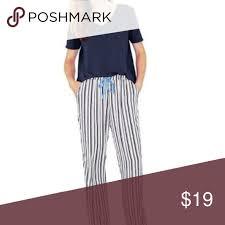 Splendid Ladies 2 Piece Pajama Size L Short Sleeve Top