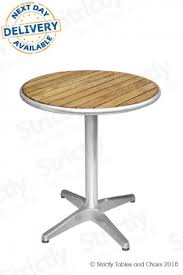 round bistro table with ash table top 2ft 60cm