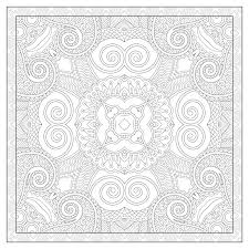 Coloriage Mandala Carre L