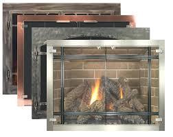 fresh gas fireplace glass doors for custom fireplace doors 93 gas fireplace glass open or closed