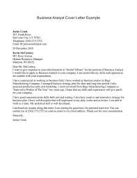 cover letter business analyst cover letter templates example of business cover letter
