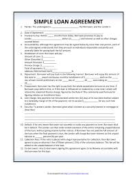 Fillable simple loan agreement template. 40 Free Loan Agreement Templates Word Pdf ᐅ Templatelab
