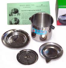 It took almost seven months (after a few major holidays, a family vacation and an extensive kitchen remodel) but i am now ready to discuss kaapi and the. Amazon Com Stainless Steel Coffee Filter Indian Style Kitchen Dining