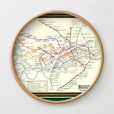 vintage london underground map wall