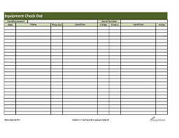 Equipment Checkout Form Template Excel Printable Equipment Checkout Form Science Equipment