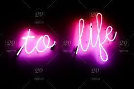 stock photo pink light decoration sign inspiration text neon