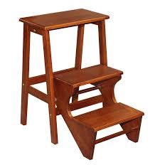 brown-teak-wooden-step-stool-with-three-steps-
