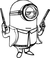 Small Picture Minion Gun Coloring Page Wecoloringpage
