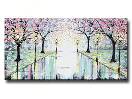 giclee print large canvas wall art sale abstract painting pink cherry trees grey yellow white contemporary on large grey canvas wall art with wall art designs large canvas wall art sale that worth by design