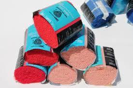 pre cut latch hook rug yarn lot red blue yellow wool acrylic