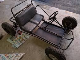 this is the rolling chassis that we purchased for about 125 it s in good condition except for the rotted seat and missing throttle pedal