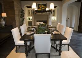 dark wood dining table black room