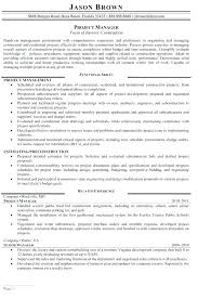 Construction Project Manager Resume Template Best Construction Project Manager Resume Template Intended For Accountant