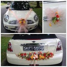 bridal car decoration 12 bright artificial flowers