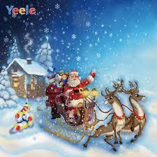 <b>Yeele</b> Christmas <b>Photocall</b> Santa Claus Sled Snow Elk Photography ...
