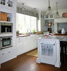cottage kitchen furniture. Modern Interior Cottage Style Kitchen Design Wooden White Furniture Sets Brown Floor E