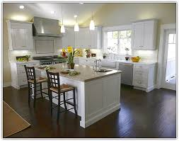 astonishing decoration white kitchen cabinets with dark floors light wood beautiful