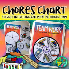 5 Person Rotating Schedule Rotating Chores Chart 5 Person