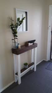 front hallway table. I Couldn\u0027t Find An Entry Table Narrow Enough To Fit In My Hallway. Wanted Something That Could Throw Keys On As Entered Home. Front Hallway V