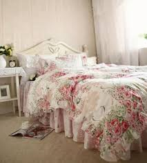 luxury ruffle bedding sets queen king size cotton duvetcover europe past pink rose blue flower oil painting princess bedding grey and white comforter