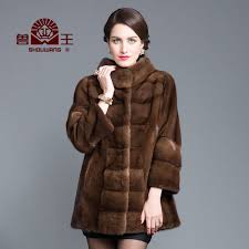 beastmaster leather brown new imported whole mink mink fur mink coat female mink coat and long