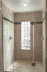 glass block window in shower impressive bathroom eclectic with none lovell home ideas 2