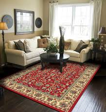 Amazoncom Traditional Area Rugs Red Rugs For Living Room 5x7