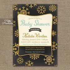 Snowflake Baby Shower Invitations Glitter Snowflake Baby Shower Invitations Chalkboard Nifty