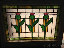 pair of 1920 27s chicago bungalow stained leaded