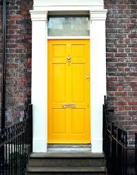 colored front doorsGreen Front Door With Red Brick Doors Redo Inspiration Colored
