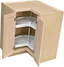36 lazy susan corner base cabinet with two rotating shelves