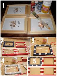 how to make a flag frame for 4th of july