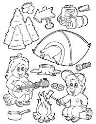 Small Picture Camping Coloring Pages for Preschoolers Coloring Page for Kids