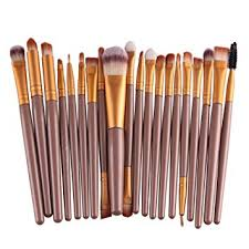 tra 20 piece makeup brushes makeup brush set cosmetics foundation blending blush eyeliner concealer face