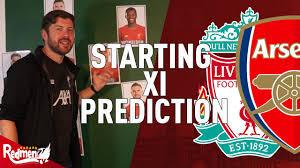 Liverpool v Arsenal | Starting XI Prediction Show - YouTube
