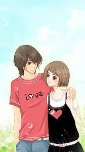 Cute Cartoon Love Couple Wallpaper Hd ...