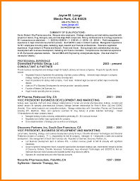 6 Resume Summary Of Qualifications Examples Activo Holidays