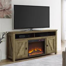 ameriwood furniture farmington electric fireplace tv console for tvs up to 60 natural