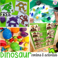 <b>Dinosaur Themed Activities</b> & Centers for Little Learners - Pocket of ...