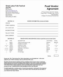 Free Service Contract Template Food Service Contract Template Tinymcsmall Template