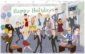 holiday work party clipart clipart kid that transformed 15 staff members into caricatures at a holiday party