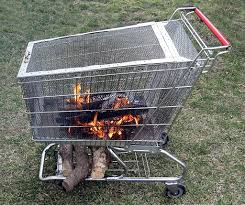 introduction portable fire pit with built in log storage rack
